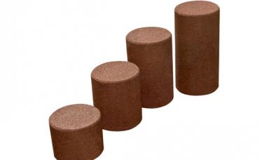 Balanse stolpe resirkulert gummi 40cm