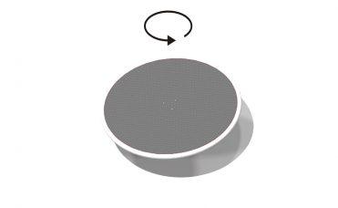 Orbit karusell med grå plate
