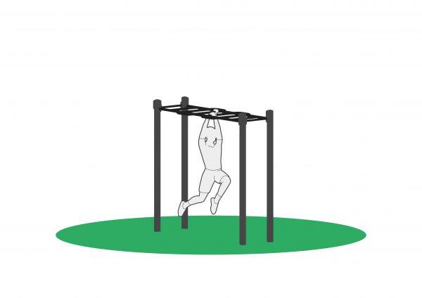 Armgang utendørs trenignsapparat