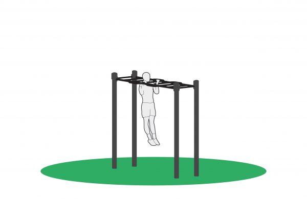 Pull up i utendørs treningsapparat