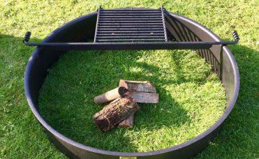 Bålsted diameter 122 cm med grillrist