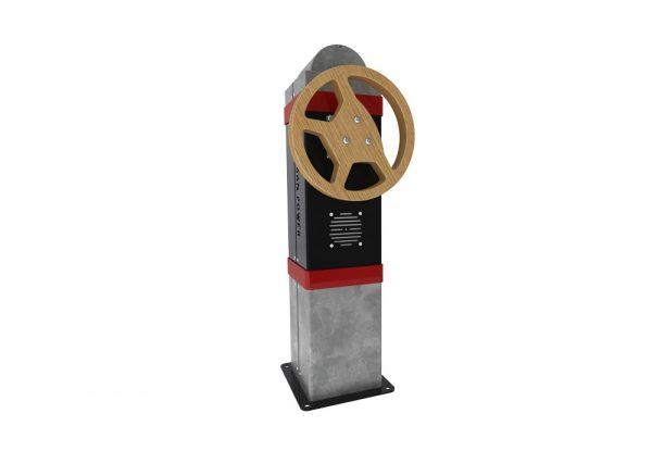 Bilratt rød interaktiv lek