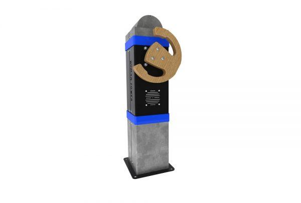 Flyratt blå for interaktiv lek på lekeplassen