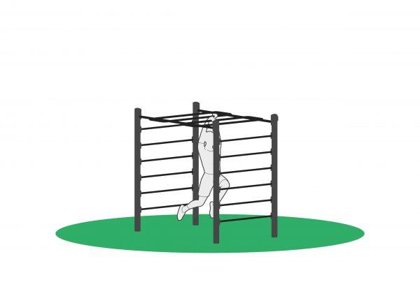 Armgang i mokneybar for utendørs trening