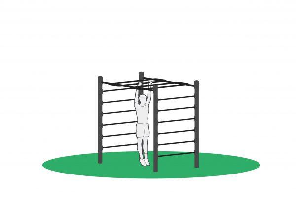 Pull up i monkeybar for utendørs trening