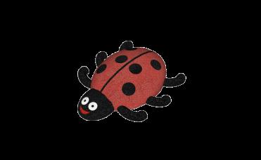 Marihøne rød og sort i 3D for lekeplassen