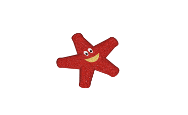 sjøstjerne rød 3D for lekeplassen