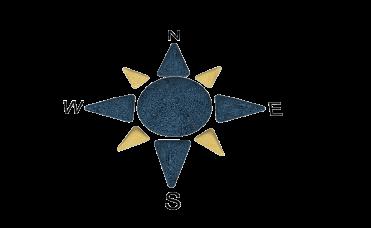 Kompass blå og gul 9 deler for lekeplassen