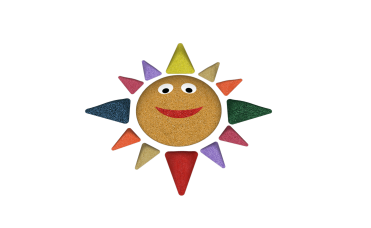 Sol i 13 deler 3D for lekeplassen