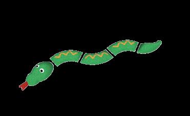 grønn slangefigur i 3D for lekeplassen