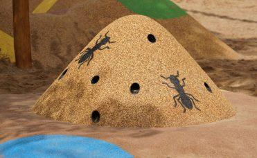 Maurtue brun i 3D for lekeplassen