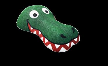 grønn krokodille hode 3D for lekeplassen