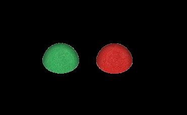 halvball epdm grønn og rød