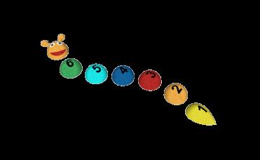 3D larve tall 1-6 med ulike farger
