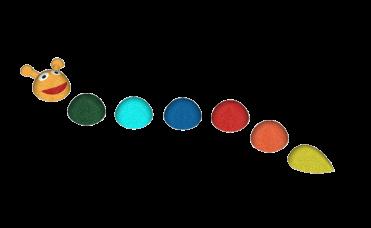 larve i 7 deler og ulike farger for lekeplassen