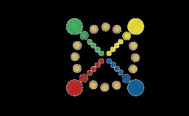 ludo 3D sirkel med mange farger