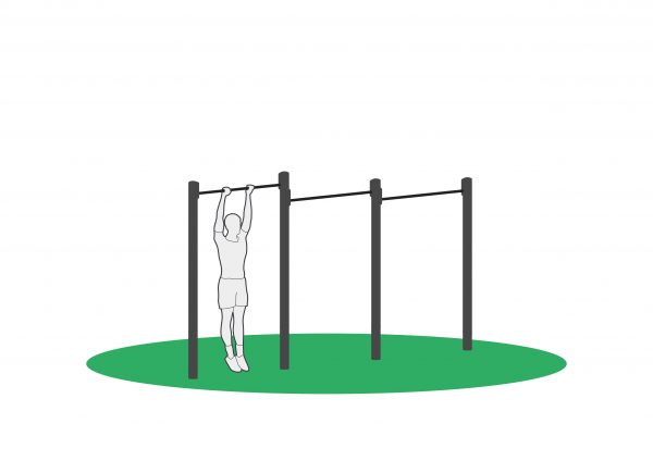 Pull-Up øvelse i apparat beregnet for utendørs trening