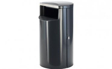 Avfallsbeholder volum 100 liter i rustfritt stål