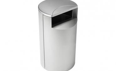 Avfallsbeholder i rustritt stål og volum 100 liter