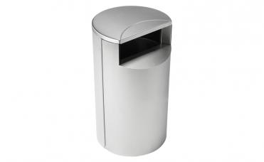 Avfallsbeholder i rustfritt stål og volum 60 liter