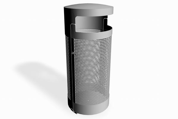 Avfallsbeholder 134 liter i pulverlakkert stål