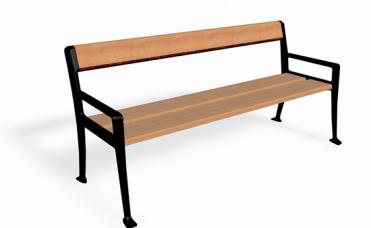 Jatoba benk med plass for to eller flere personer