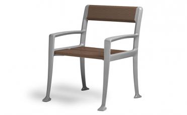 Jatoba stol i støpt aluminium for ute og innemiljø