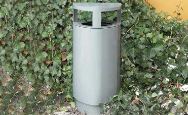 Søppelkasse 69 liter i pulverlakkert stål