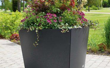 blomsterkasse firkantet med avrundet sider