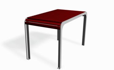 Bord med tilpasset størrelse til benk i samme serie