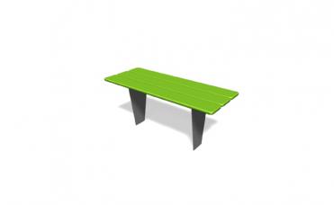 Metro bord for nedgraving i furu og pulverlakkert stål