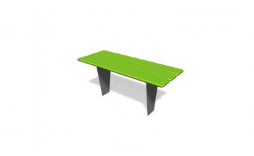 Metro bord i HPL og stål for nedstøping