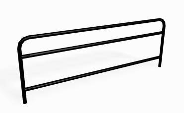 750 mm rekkverk i forsinket pulverlakkert stål