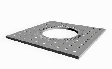 Markgitter 8 mm stål som er elforzinket, passivert og pulverlakkert