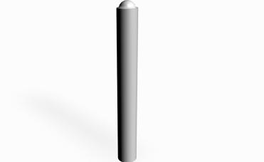 Pullert diameter 0,11meter pulerlakkert stål