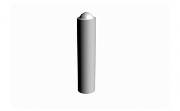 pullert diameter 0,22 m i forsinket pulverlakkert stål