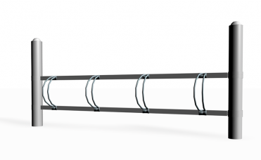 enkeltsidig sykkelstativ 90cm