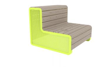 Benk frittstående i moderne design Linax
