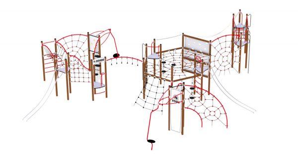 Hardangervidda klatreseksjon med utallige klatreaktiviteter for lekeplassen