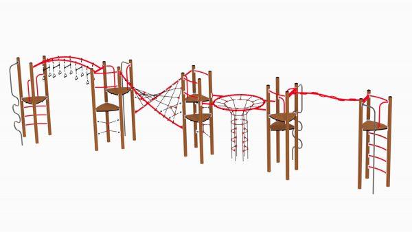Glitetrtind klatreseksjon og hinderløype for lekeplassen