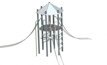 Thorium proton klatreapparat med tårn og slider