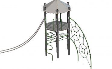 Thorium Nøytron klatreapparat med nett, slider og tårn