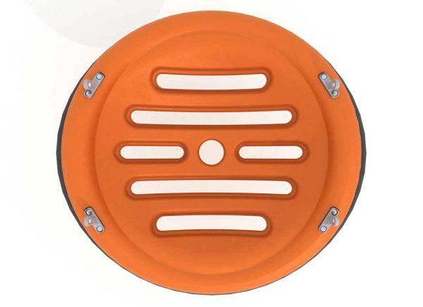 Oransj ufo til huskestativ