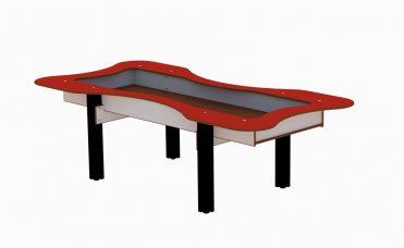 Sandlekebord til lekeplassen i rød og sort