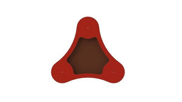 Rød sandlekebord trekant enkel