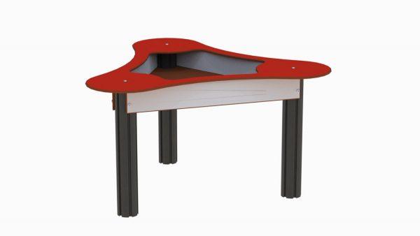 Sandlekebord i rød og grå for lekeplassen