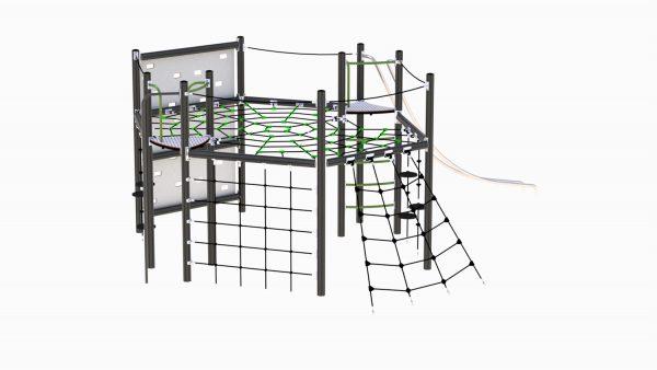 Adventure gaustablikk grønn og grå klatreapparat til lekeplassen