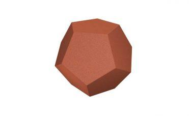 Diamant rød for lekeplassen i resirulert gummi og flere fargevalg