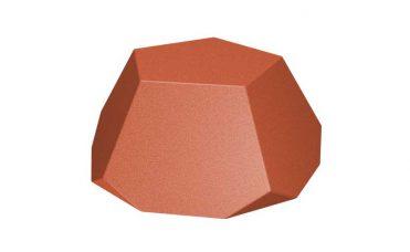 Rød gummi diamant, halv 225 mm