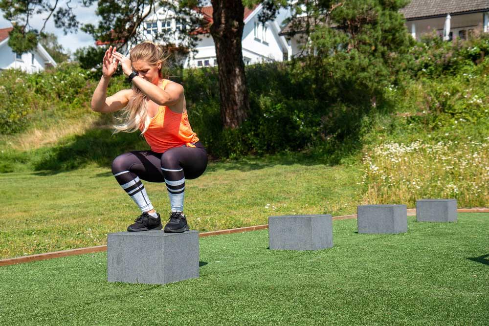 Utendørs trening i treningspark